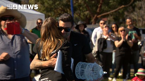 The family day was organised by staff at the martial arts centre in Seven Hills where Julian trained. (9NEWS)