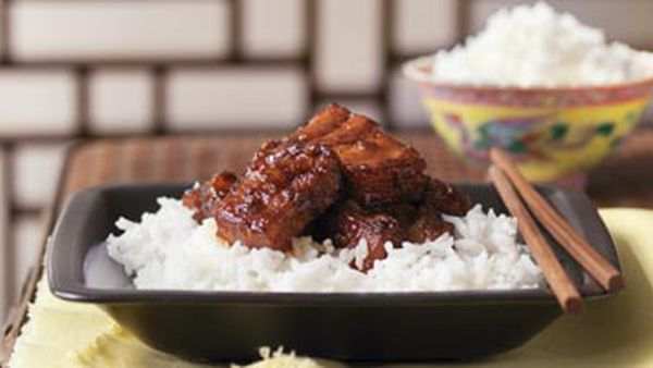 Pork spareribs with chilli plum sauce