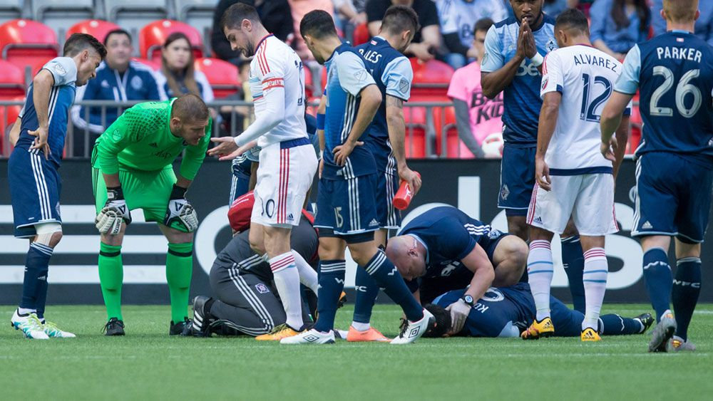 MLS striker knocked out in sickening collision