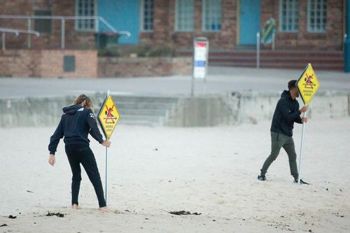 Many beaches along the state's coastline were closed in light of the warning but are expected to reopen later in the week (AAP).