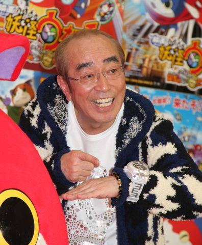 Comedian Ken Shimura attends the 'Yo-Kai Watch' movie PR event on December 2, 2014 in Tokyo, Japan. (Photo by Sports Nippon/Getty Images)