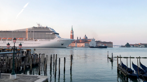 Early risers in Venice woke Thursday to the sight of a cruise ship travelling down the Giudecca canal for the first time since the pandemic, despite pledges by subsequent Italian governments to reroute the huge vessels due to safety and environmental concerns.