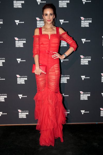 TV and radio host Bec Judd in Alice McCall