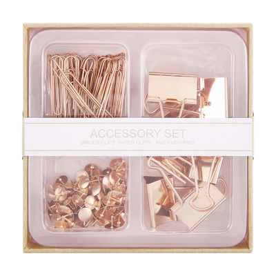 "<a href=""http://www.kmart.com.au/product/accessory-set---rose-gold/1085363"" target=""_blank"">Kmart Accessory Set in Rose Gold, $5.</a>"