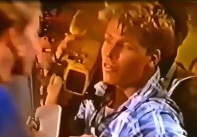 Nathan Harvey stars in 1991 Razzamatazz ad