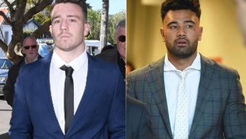 Ex-NRL players found guilty of indecent assault at Sydney hotel