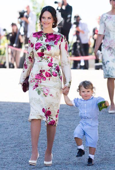 Princess Sofia of Sweden and Prince Alexander of Sweden at the christening of Princess Adrienne of Sweden at Drottningholm Palace in Stockholm, Sweden, June, 2018