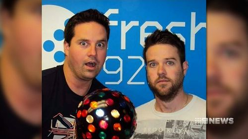 Antony Van Der Meer (left) and Adam Horsell hosted a radio show together.