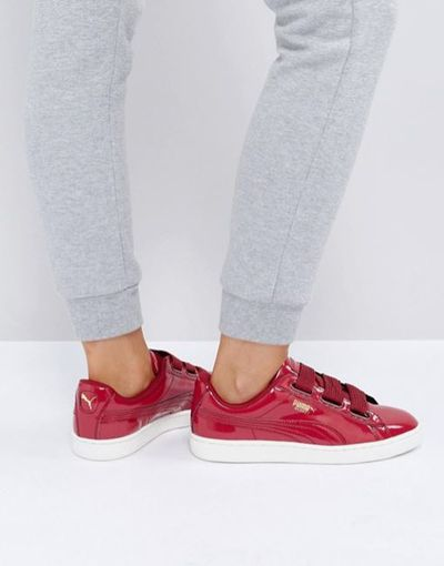 "<a href=""http://www.asos.com/au/puma/puma-basket-heart-sneakers-in-patent-red/prd/8357888?&channelref=product+search&affid=11148&ppcadref=279378282%7C20517645042%7Caud-72026799631:pla-215539130922&gclid=COL4u6320tQCFcWTvQodroMOfg&gclsrc=aw.ds"" target=""_blank"">Puma Basket Heart Sneakers in Patent Red, $139.</a>"
