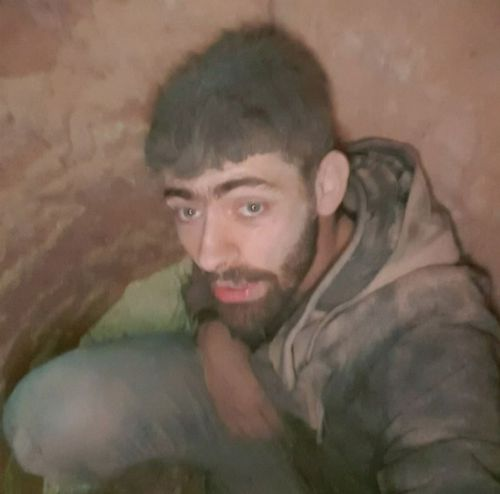 Daniel Cotter snapped this selfie after his plunge. Picture: 9NEWS