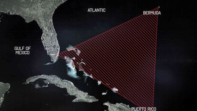 While the exact border of The Bermuda Triangle is loosely defined, it has a generally accepted area in a triangle shape.