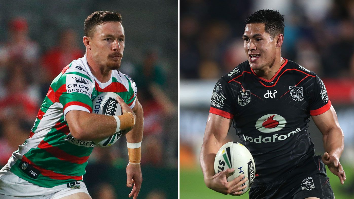Damien Cook (left) and Roger Tuivasa-Sheck