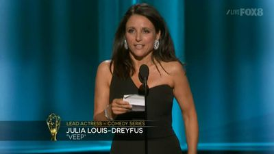 <p><strong>Lead Actress, Comedy</strong></p><p>Julia Louis-Dreyfus, <em>Veep</em></p>