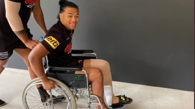 Panther pranks? Star rocks wheelchair as mystery surrounds a number of injured grand final  players