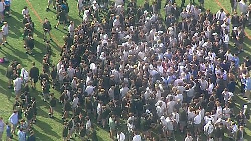 The students are calling for their former deputy principal to be reinstated. (9NEWS)