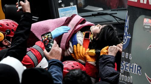 Thirteen people were pulled out of the debris with injuries, including a five-year-old girl who was rescued on Thursday