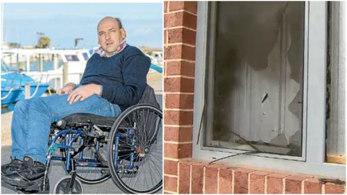 Kevin Birkett was rescued from his burning apartment. (Frankston Leader/9NEWS)