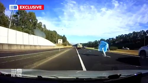 A truck lost its load on the M7 in Sydney.