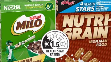 Milo and Nutri-Grain cereal packs