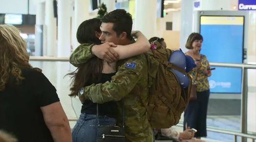 Troops home for Christmas