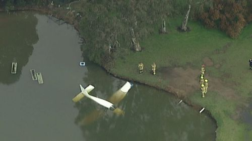 The plane crashed at Liverpool Golf Course just before 2pm. (9NEWS)