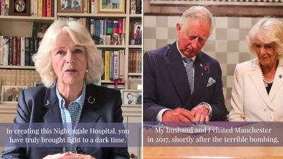 Camilla opens another temporary hospital via video link
