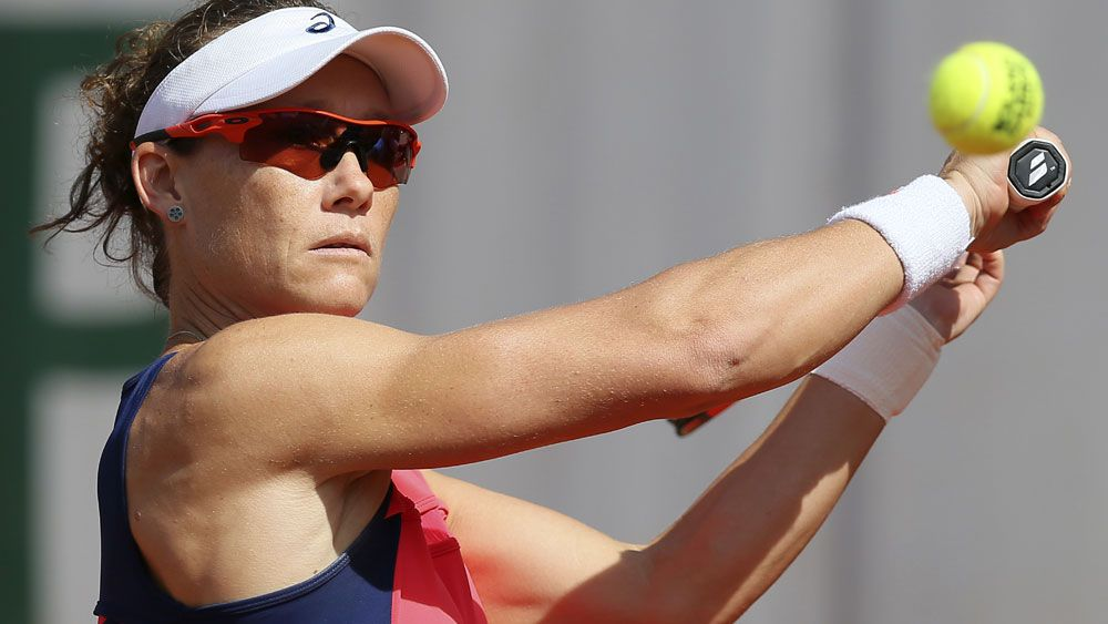 Samantha Stosur is through the last 16 at Roland Garros. (AAP)
