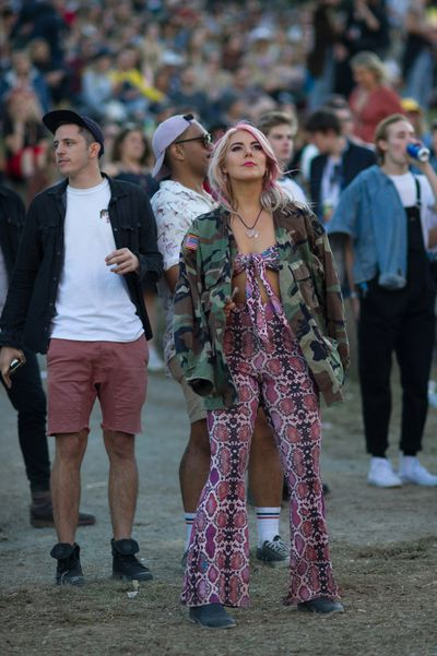 Festival goers at Byron Bay's Splendour in the Grass July 2018