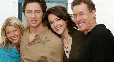 Danni Sullivan, J.D., Jordan Sullivan and Perry Cox in Scrubs.