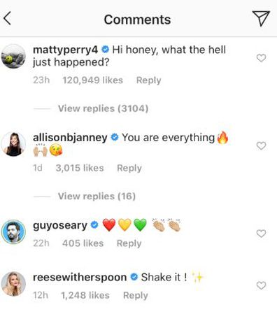 Courteney Cox, Matthew Perry, TikTok, comment, Instagram