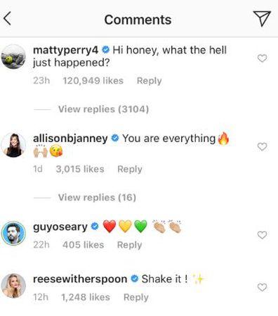 Courteney Cox, Matthew Perry, TikTok, comment, Instagram