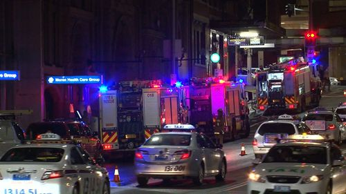 Restaurants evacuated after Sydney CBD fire