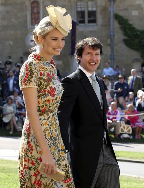 James Blunt and his wife Sofia Wellesley. (AAP)