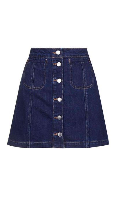 10. A denim skirt