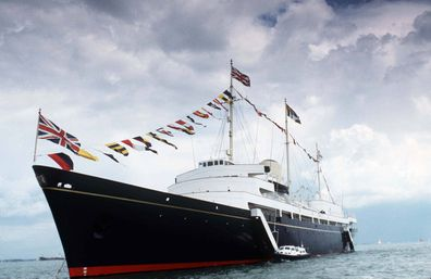 The Royal Yacht Britannia at sea in the 1990s, before it was retired