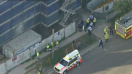 The man was taken to hospital in a critical condition. (9NEWS)