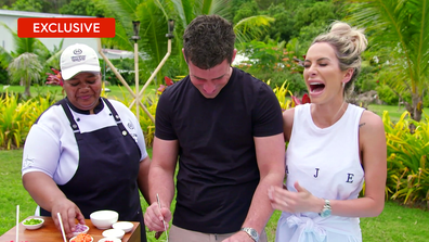 Exclusive: Michael and Stacey's hilarious cooking class attempt