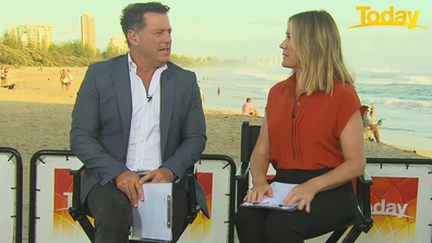 Karl Stefanovic said Ally Langdon was in hospital having her injury assessed.