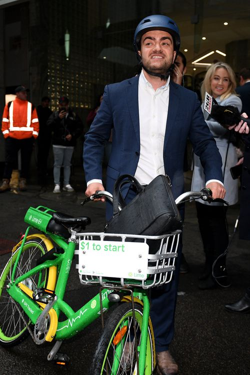 Former Federal Labor Senator Sam Dastyari could be fined after being photographed riding a share bike on the footpath yesterday.