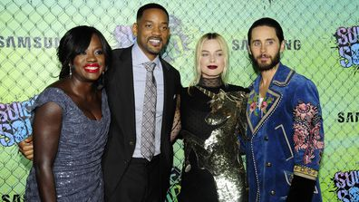 Viola Davis, Will Smith, Margot Robbie and Jared Leto attend the world premiere of Suicide Squad  in New York in 2016.