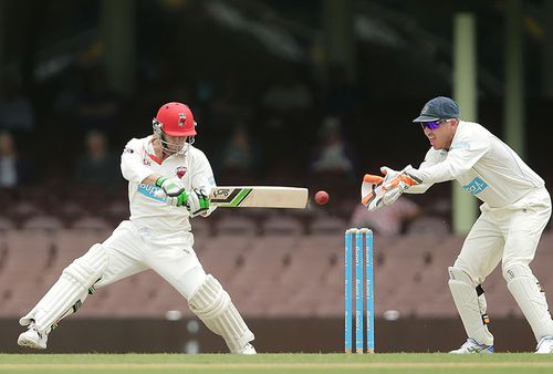 Hughes batting for South Australia against his native NSW. (Getty)