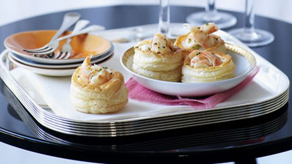 Prawn and chive vol-au-vents