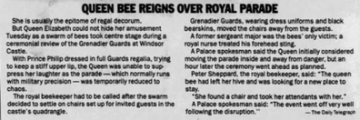 Excerpt from the Telegraph, 2003