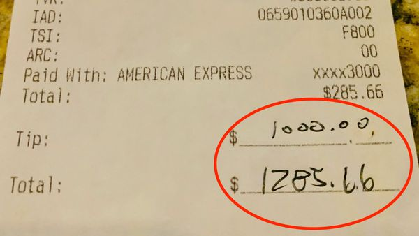 Restaurant owner praises generous $1300 tip leaver: 'It's been a long, hard summer'