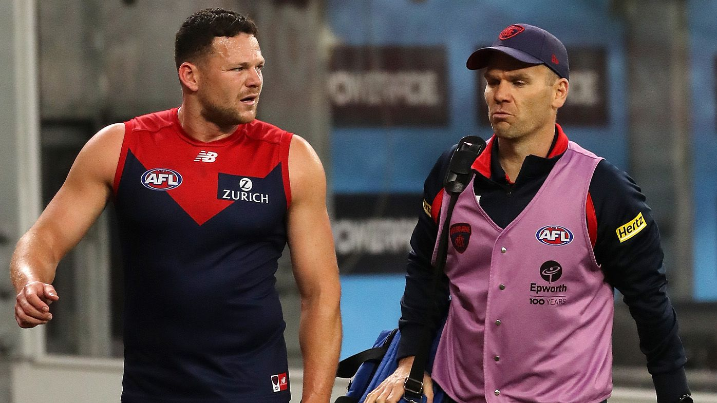 Steven May says there's 'no chance' of missing AFL grand final despite hamstring scare in prelim