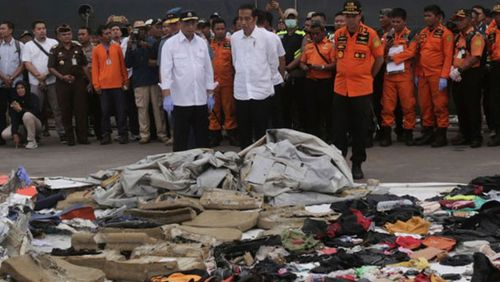 Indonesian President Joko Widodo visited the search and rescue HQ earlier this week.