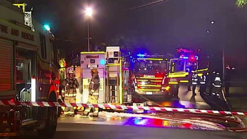 Emergency crews on the scene at Acacia Ridge. (9NEWS)