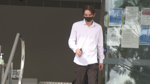 A tradie who allegedly told work he had COVID-19, sending colleagues into isolation, has faced court.
