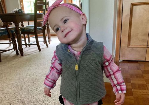 A photo supplied by the family of 18-month old Chloe Wiegand, who fell to her death from deck 11 of a Royal Caribbean cruise ship, Freedom of the Seas.