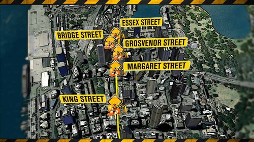 Construction is due to start on October 23 on George Street and between King and Market Streets. (9NEWS)
